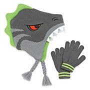 Dino Hat & Gloves Set - Preschool Boys 4-7