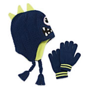 One Eyed Monster Hat & Gloves Set - Preschool Boys 4-7