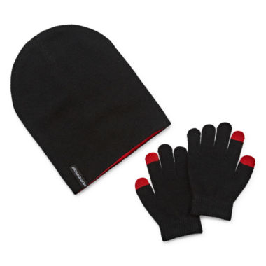 jcpenney.com | Weatherproof Slouch Beanie & Gloves Set - Boys 8-20