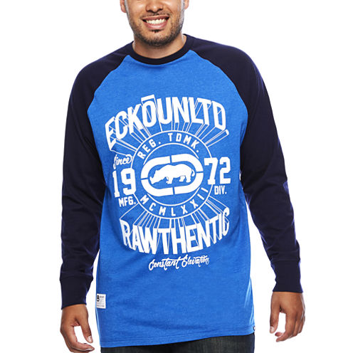 Ecko Unltd.® Elevation Long-Sleeve Raglan T-Shirt- Big & Tall