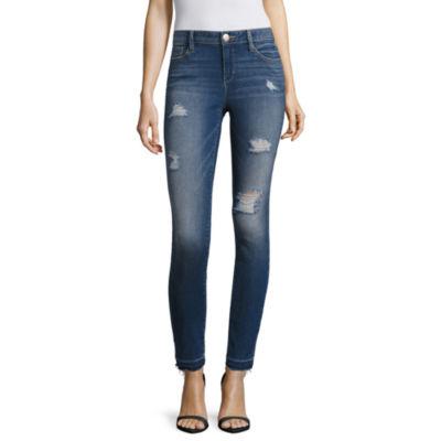 BELLE + SKY™ Destructed Skinny Jeans