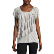Alyx® Short-Sleeve Ruffled Knit Top