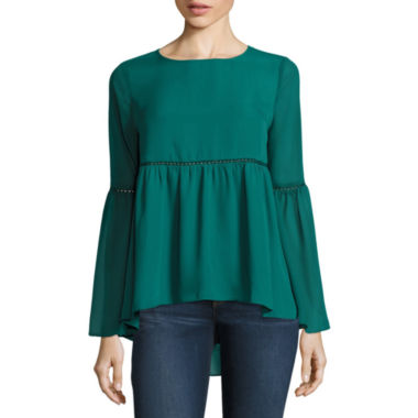 jcpenney.com | Stylus™ Long Bell-Sleeve Blouse - Tall