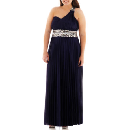My Michelle One-Shoulder Pleated Gown - Plus