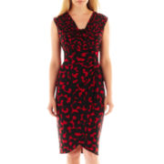 London Style Collection Cap-Sleeve Sheath Dress - Petite