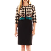 Danny & Nicole® Sheath Dress with Houndstooth Jacket - Petite