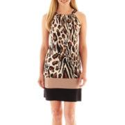 MSK Animal Print Halter Dress - Petite