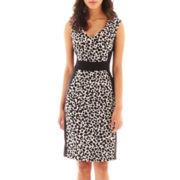 London Style Collection Sleeveless Sheath Dress - Petite