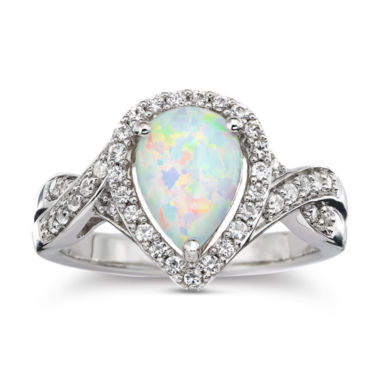 jcpenney.com | Lab-Created Opal & White Sapphire Ring