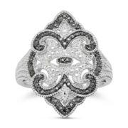 Vintage Inspirations™ 1/10 CT. T.W. Color-Enhanced Black Diamond Ring