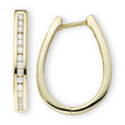 1/2 CT. T.W. Diamond Hoop Earrings