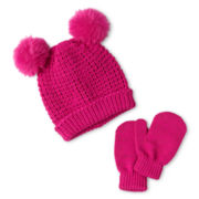 Toby & Me Critter Knit Hat and Glove Set - Girls 2t-6t