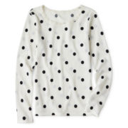 Arizona Long-Sleeve Dot Thermal Tee - Girls 6-16 and Plus