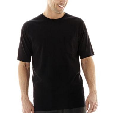 jcpenney.com | Stafford® Performance Heavyweight Crewneck Pocket Tee