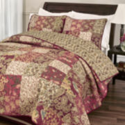 Stanfield Floral Patchwork Quilt & Accessories