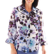 Alfred Dunner® Lake Como Watercolor Floral Blouse
