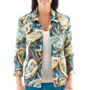 Alfred Dunner® Ann Arbor 3/4-Sleeve Paisley Jacquard Jacket