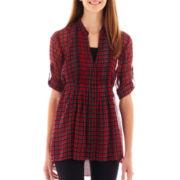 Weavers® 3/4-Sleeve Pintuck Tunic