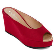 CL By Laundry Dream World Faux-Suede Flatform Wedges