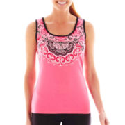Made For Life™ Medallion Print Tank Top - Petite