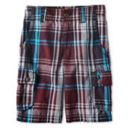 Arizona Plaid Shorts - Boys 6-18, Slim and Husky