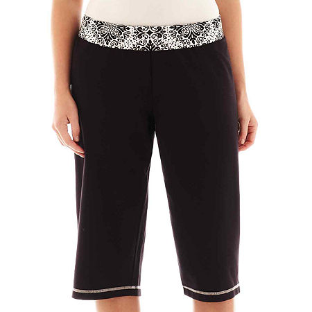 Made For Life Print Waistband Capris - Plus
