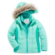 Free Country® Faux Fur-Trimmed Puffer Jacket - Girls 7-16