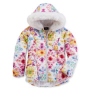 by&by Girl Floral-Print Puffer Jacket - Preschool Girls 4-6x