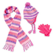 Capelli of New York Hat, Scarf and Gloves - Girls 7-16