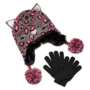 Capelli of New York Cat Hat and Gloves - Girls 7-16