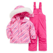 Vertical 9 Jacket and Snow Bib - Toddler Girls 2t-4t