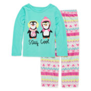 Okie Dokie® Stay Cool Pajama Set - Preschool Girls 4-6x