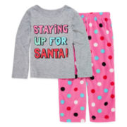 Okie Dokie® Santa Pajama Set - Toddler Girls 2t-4t