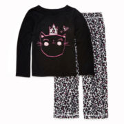 Okie Dokie® Cheetah-Print Pajama Set - Toddler Girls 2t-4t