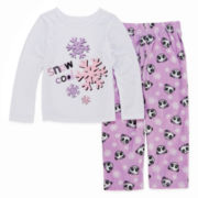 Okie Dokie® Snow Panda Pajama Set - Toddler Girls 2t-4t