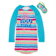 Starride Beautiful Sleep Shirt and Mask - Girls 7-14