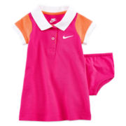 Nike® 2-pc. Polo Top and Diaper Cover Set - Baby Girls 12m-24m