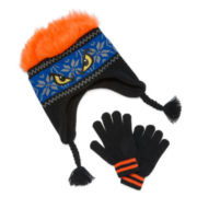 Hairy Monster Hat and Glove Set - Boys 8-20