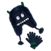 Monster Hat and Glove Set - Preschool Boys 4-7