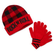 Rock N' Roll Beanie and Gloves Set - Boys