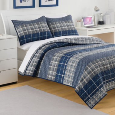 jcpenney.com | IZOD® Riviera Plaid Quilt & Accessories