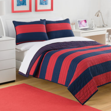 jcpenney.com | IZOD® Nottingham Stripe Quilt & Accessories
