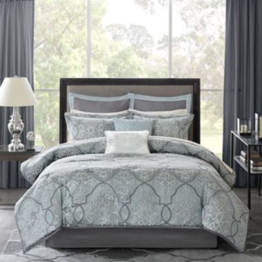 jcpenney.com | Madison Park Anouk 12-pc. Jacquard Complete Bedding Set with Sheets