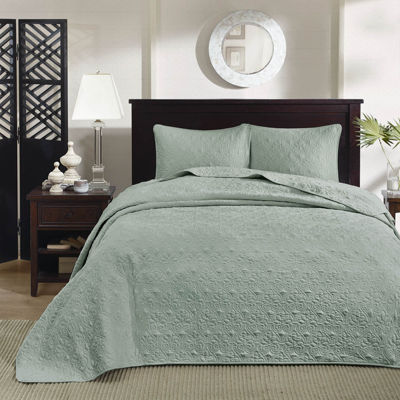 Madison Park Mansfield 3 Pc Bedspread Set Jcpenney