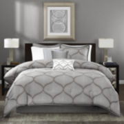 Madison Park Vella 7-pc. Jacquard Comforter Set