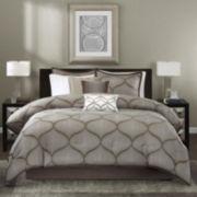 Madison Park Alandra 7-pc. Jacquard Comforter Set