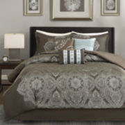 Madison Park Priya 7-pc. Jacquard Comforter Set