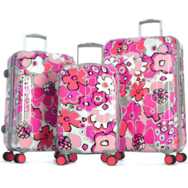 jcpenney.com | Blossom II 3-pc. Expandable Hardside Spinner Upright Luggage Set