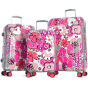 Blossom II 3-pc. Expandable Hardside Spinner Upright Luggage Set