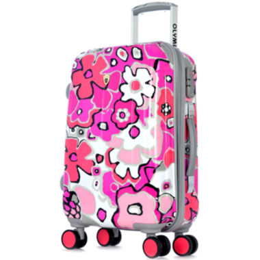 "jcpenney.com | Blossom II 25"" Expandable Hardside Spinner Upright Luggage"
